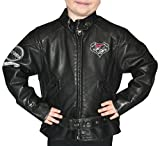 Harley-Davidson Girls Youth PU Pleather Biker Jacket Black Kids by Leather Factory Outlet