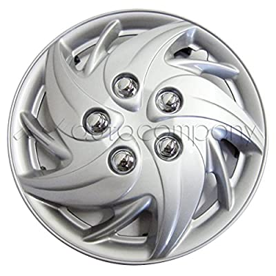 "Silver 13"" Hub Caps Full Wheel Rim Covers w/Steel Clips (Set of 4) - KT-955S-13"
