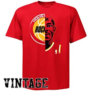NBA Majestic Clyde Drexler Houston Rockets Hardwood Classics Game Face T-Shirt - Red by Majestic