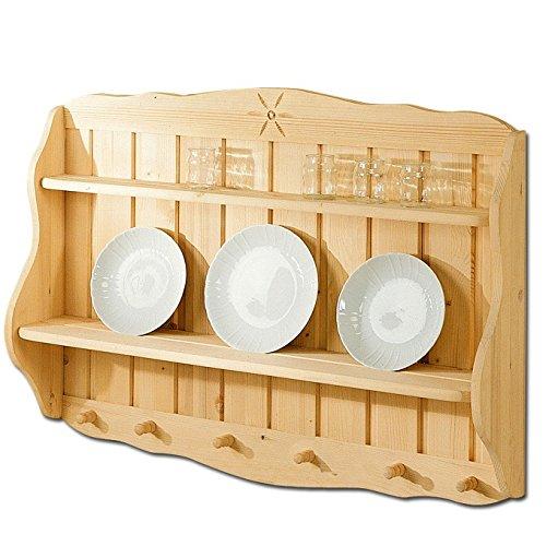 Piattaia credenza country da cucina in legno massello di abete 99x18x73 cm