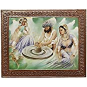 APKAMART Hand Crafted Painting On Wood - 20 Inch - Handicraft Wall Hanging And Wall Decorative Showpiece For Wall...