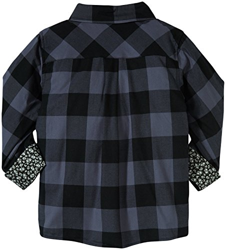 Andy & Evan Little Boys' Buffalo Check Shirt, Grey, 2T