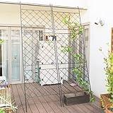 緑のカーテンやローズフェンスに アイアングリーンカーテン 2枚セット 高さ264cm×幅79.6cm SS-DNF-270-2P