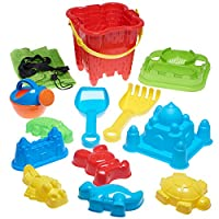 Beach Toy Set in Reusable Zippered Bag with Mesh Bag for Easy Clean and Store from Prextex