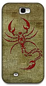 The Racoon Grip Scarlet Scorpion hard plastic printed back case / cover for Samsung Galaxy Note 2