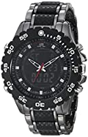U.S. Polo Assn. Sport Men's US8170 Black and Gunmetal-Tone Bracelet Watch