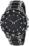 U.S. Polo Assn. Sport Men's US8170 Black and Gunmetal Ana-Digi Bracelet Watch thumbnail