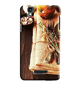 Blue Throat Food On Jute Hard Plastic Printed Back Cover/Case For Micromax Yu Yureka