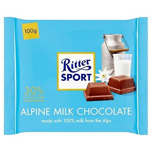Ritter Lo Sport Alpino Cioccolato Al Latte 100g (Confezione da 6)