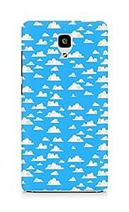 Amez designer printed 3d premium high quality back case cover for Xiaomi Mi 4 (cute blue clouds )