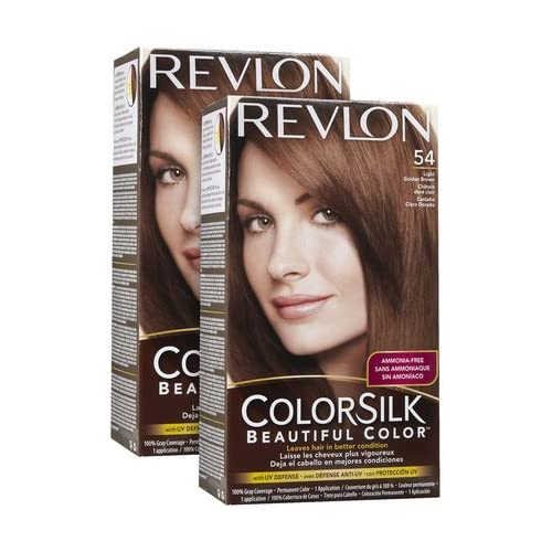 Permanent Hair Color, Light Golden Brown (54/5G), 2 ct (Quantity of 2
