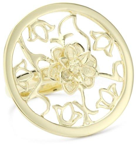 GALA by Daniela Swaebe Lotus Yellow Gold Medallion Ring Size 8
