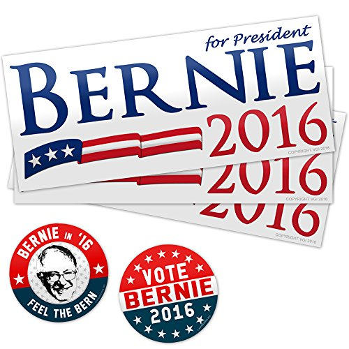 Bernie Sanders Stickers (5 Pack) By Vipergraphics