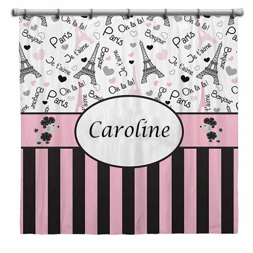 aBaby Custom Paris Personalized Shower Curtain, Name Caroline (Ababy Personalized Shower Curtain compare prices)