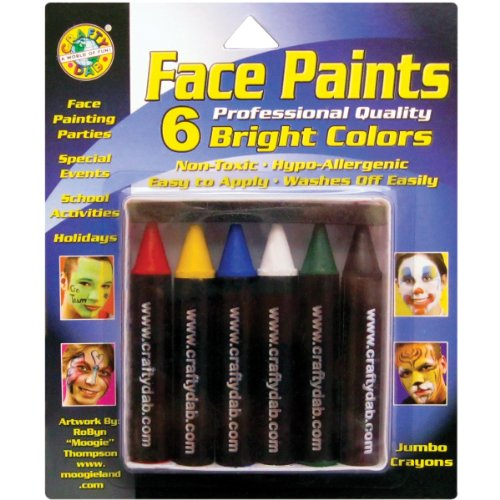 Crafty Dab Face Paint Jumbo Crayons - Bright Colors - 1
