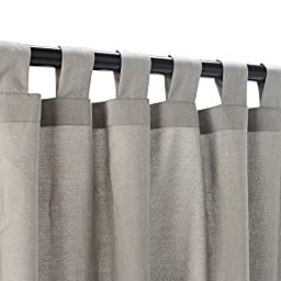 Essentials by DFO Dove Sunbrella outdoor curtain with tabs 84 long
