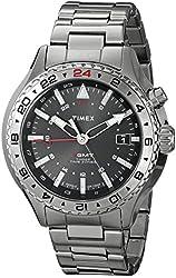 Timex Men's T2P424DH Intelligent Quartz 3-GMT Stainless Steel Watch