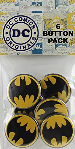 "Button set DC Comics Batman Black Logo Button (6-Piece), 1.25"" at Gotham City Store"