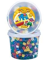 Hama - 8570 - Loisirs Créatifs  - Perles et Bijoux  - Pot De 600 Perles Vives (Mix 00)