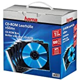 Hama Cd-rom Slim Jewel Case, Pack Of 100 Pcs
