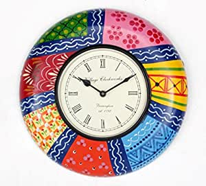 Buy universal art traditional hand painted wall clock 12 for Traditional wall clocks india