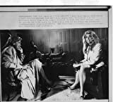Marla Maples Barbara Walters 1990 6x8 original WIRE PHOTO J6648