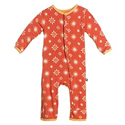 KicKee Pants Little Boys Coverall- Frisbee Sunshine, 18-24 Months