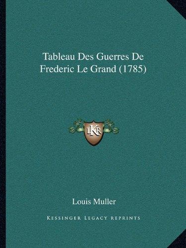 Tableau Des Guerres de Frederic Le Grand (1785)