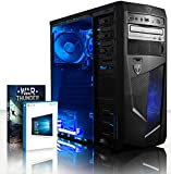 VIBOX Ultra 11 - 4.2GHz Quad Core, Family, Desktop Gaming PC, Computer with Windows 10, WarThunder Game Bundle and Neon LED Internal Fans PLUS a Lifetime Warranty Included* (New 3.9Ghz (4.2GHz Turbo) AMD A8 6600K Fast 4 Core APU Processor, Powerful Radeon HD8570D Integrated Graphics Chip, 1TB HDD Hard Drive, 8GB 1600MHz RAM Memory, 85+ 500W PSU, DVD-RW)