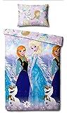 Disney - Die Eiskönigin - Bettwäsche Set 135 × 200 cm (Rotary Duvet) [UK Import]
