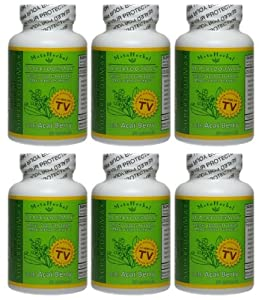 Superfood Max With Acai Berry 13 Other Diet Foods Weight Loss Diet Pill Herbal Detoxify Formula - Anti-aging Supplement - 6 Bottles 180 Capsules by Metaherbal Laboratories