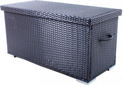 Auflagenbox mit Folieninnentasche Poly-Rattan, Coffee jetzt kaufen