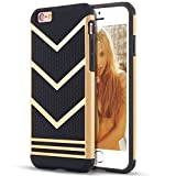 iPhone 6s plus Case,[5.5inch]by Ailun,Slip-Proof Rugged Bumper,Non-Gap Fit,Shock-Absorption&Anti-Scratches,Fingerprints&Oil Stains,Protective&Stylish,Ultra Slim Back Cover[Gold Black]