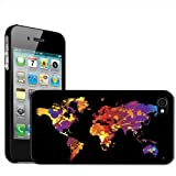 Fancy A Snuggle 'Paint Splash World Map Modern Art' Clip On Back Cover Hard Case for Apple iPhone 4/4S