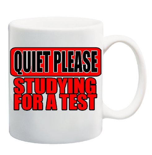 Quiet Please Studying For A Test Mug Cup - 11 Ounces