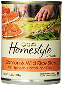 Nature's Variety Prairie Homestyle Salmon & Wild Rice Stew Canned Dog Food, 13.2 oz. (Case of 12)