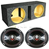 2 BOSS P156DVC 15 Inches 5000W Car Subwoofers Subs, Dual 15 Inches Sub Box Enclosure