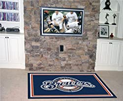 Milwaukee Brewers 4'x6' Rug 4X6 Floor Mat (Rug)