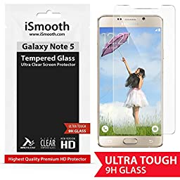 Galaxy Note 5 Screen Protector Premium Tempered Glass Ultra Clear That Gives Optimal Screen Protection Against Scratches And Superb HD Viewing Experience