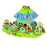 Happy Cherry Puzzle 3D Madera DIY Modelo Creativo Juego Juguete Educativo (31 Piezas) para Niño Niña - Oficina de Correos Forestal