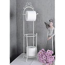 Toilettenpapierhalter Landhausstil WC Rollenhalter Weiss Klopapierhalter Palazzo Exclusiv