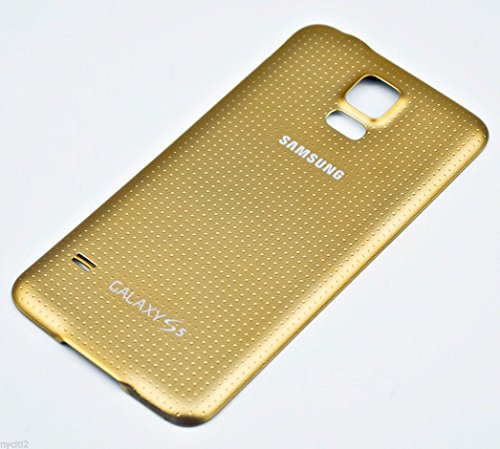 Battery Door Back Cover Gold w Waterproof Seal Gasket For Samsung Galaxy S5 G900 ~ USA (S5 Back Cover Replacement Gold compare prices)