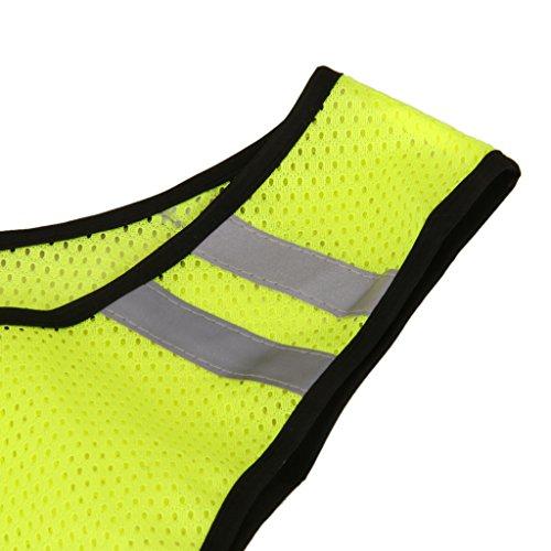 1x-Chaleco-Reflectante-De-Seguridad-Para-Funcionamiento-De-Correr-En-Bicicleta-En-Bicicleta-A-Pie-Amarillo