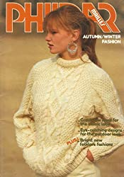Phildar Women's & Men's Autumn/Winter Fashion: Christmas Tree Motif Sweater, Snowflake Motif Dress, Dog Motif Sweater, Shawl, Pullovers, Gloves, Coats, Hats, Mittens, Cardigans, Jumpers Jackets 41 Knitting & Crochet Pattern Booklet by Phildar