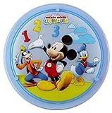 Dalber 31856T La Casa de Mickey - Plafón redondo fabricado en cristal y metal con diseño de Mickey, color azul