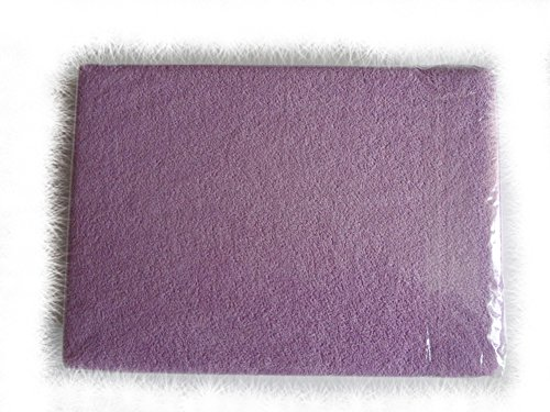 Blueberry Shop Terry Towelling Fitted Sheet Toddler Bed Baby Cotbed 70X140Cm Purple