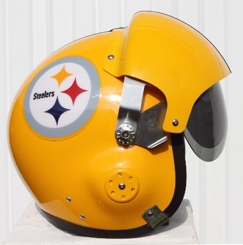 Pittsburgh Steelers Throwback Fighter Pilot Helmet - NFL Football USAF Military Motorcycle at Amazon.com