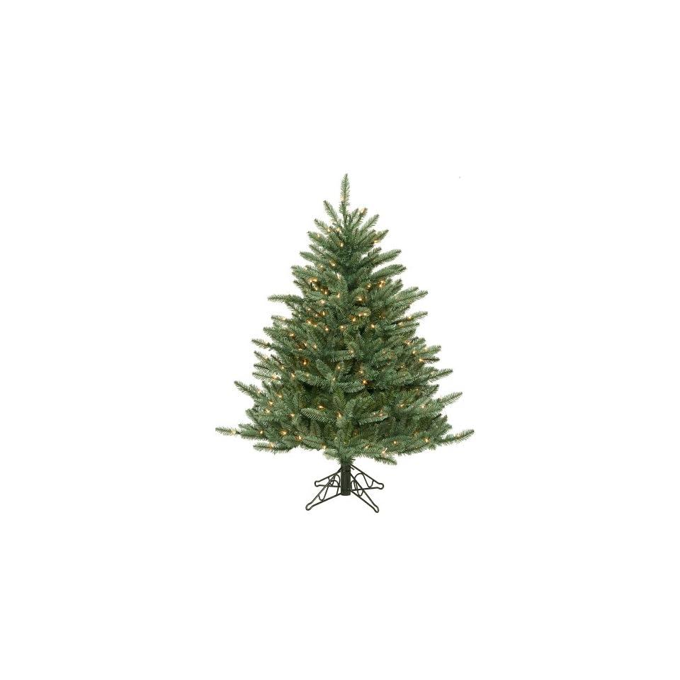 4.5 Pre Lit Blue Frasier Artificial Christmas Tree   Clear Lights