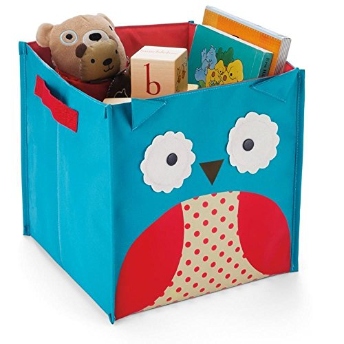Tpcromeer Zoo Storage Bins Cartoon Cute Folding Box Toys Books Clothes Collection Basket Organizer - Oxford Fabric 5 Styles (Owl) front-838633