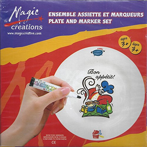 Magic Creations - Plate and Marker Set (Craft Kit for Ages 3+)